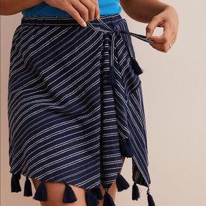 aerie mock-wrap tassel skirt
